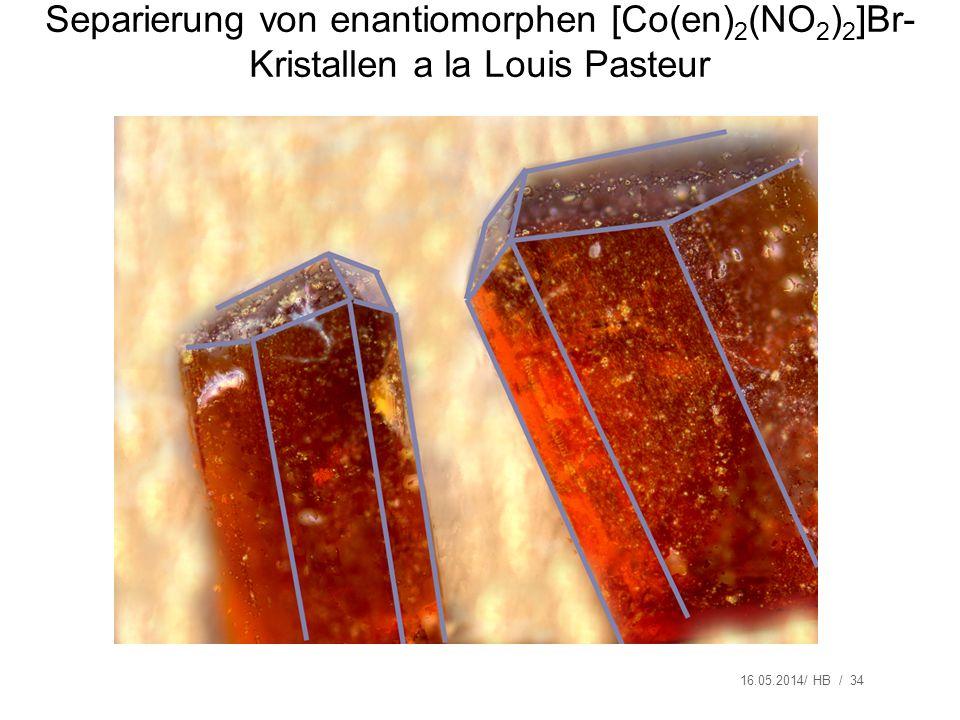 Separierung von enantiomorphen [Co(en)2(NO2)2]Br-Kristallen a la Louis Pasteur